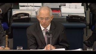 Nach gescheiterter Sondierung: Rede von Wolfgang Schäuble am 21.11.2017