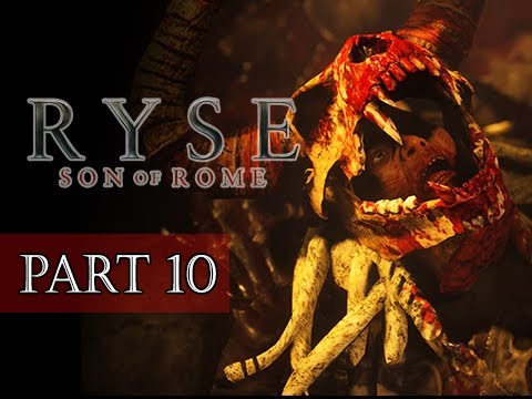 Ryse Son of Rome Walkthrough Part 10 - BOSS Minotaur Chief Glott (XBOX ONE Let's Play)
