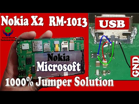 Nokia X2 RM-1013 1000% Charging Or Jumper Solution