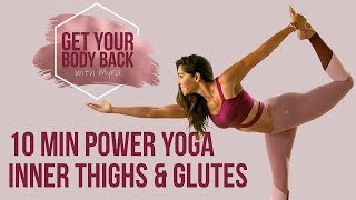 Quick BURNOUT for Butt & Inner Thighs ♥ 10 Minutes Power Yoga Challenge Butt Lift & Tone Workout