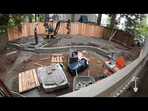 Backyard Transformation Time lapse
