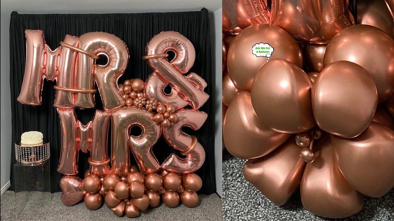 Balloon Bouquet Rose Gold