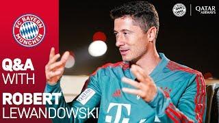 Oktoberfest, Wakeboarding and Hard Work in Training Camp | Q&A with Robert Lewandowski from Doha