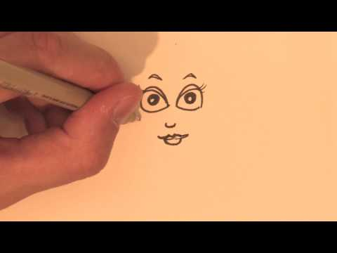 Drawing & Illustration Lessons : How to Draw a Cartoon Girl With Her Hair Up