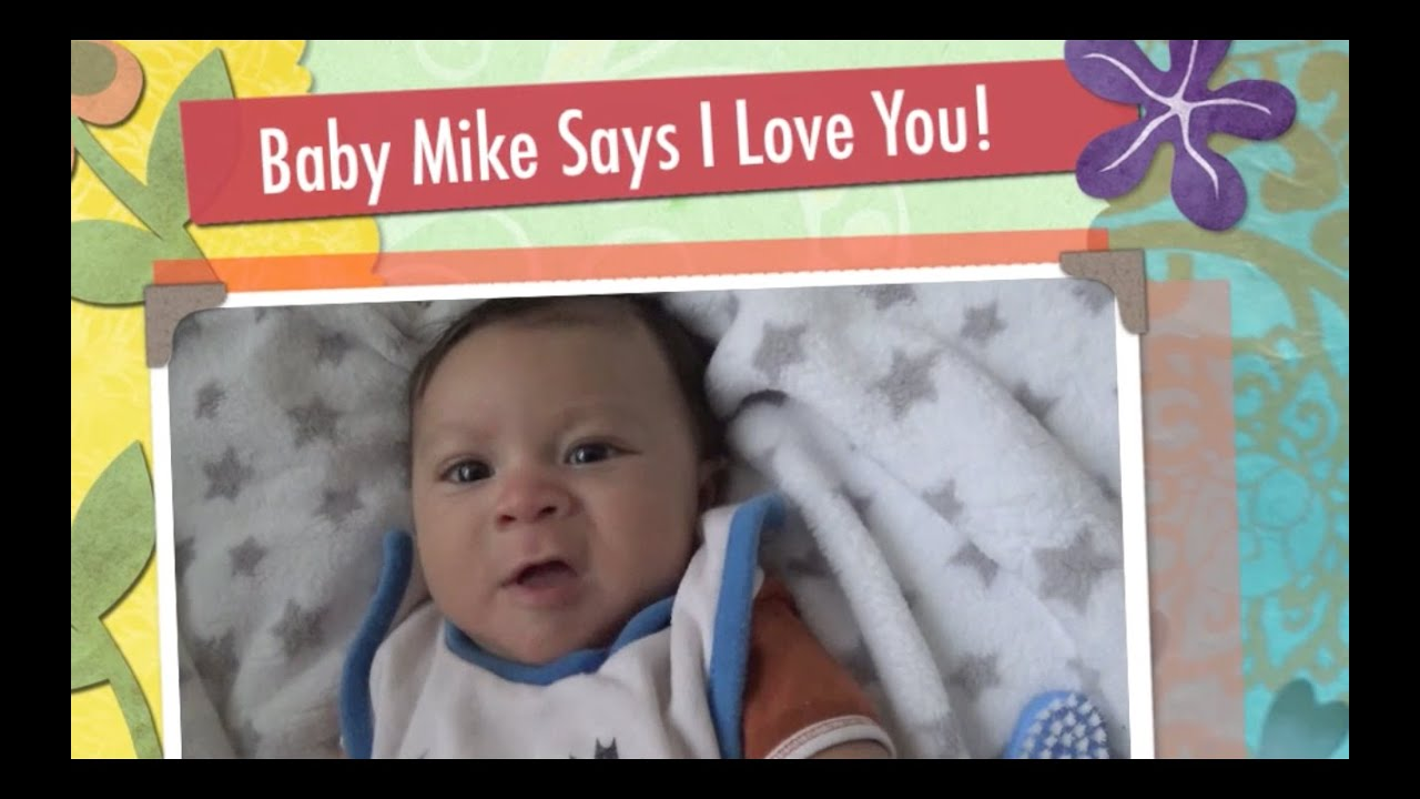 Cute Baby Says I Love You He Really Speaks 3 Months Old Youtube