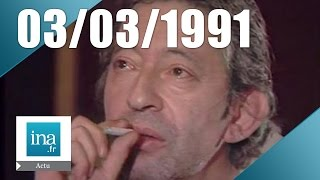 19/20 FR3 du 03 mars 1991 - Serge Gainsbourg est mort - Archive INA