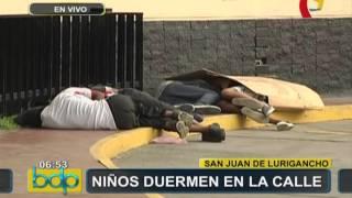 SJL: menores siguen durmiendo cerca a los exteriores de estación del Metro de Lima