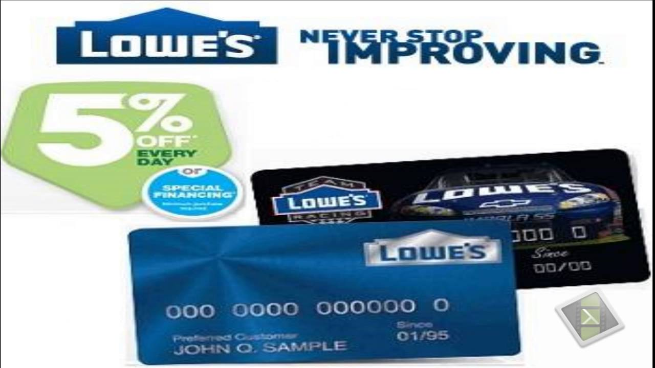 Lowes credit card - A great deal - YouTube