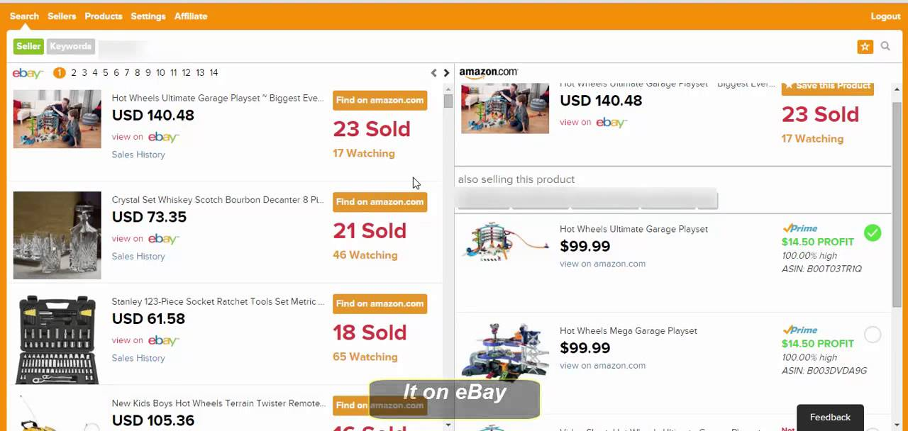 How To Find Top Selling Products Of Any Seller On Ebay Ebay Amazon Shipdropper Youtube