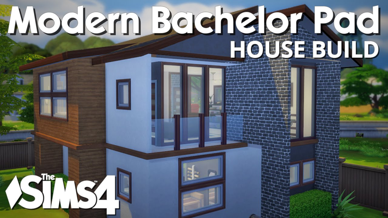 The Sims 4 House Building Modern Bachelor Pad Youtube