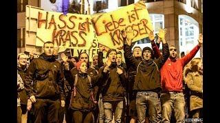 """Friedliche Proteste: """"Dritter Weg"""" trifft auf Tausende Gegendemonstranten"""
