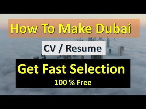 How To Make A Resume  | Dubai CV Sample | Dubai CV Formate 2019 |