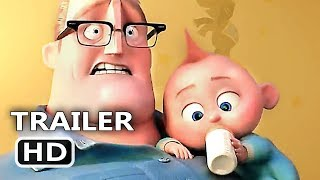 connectYoutube - INCREDIBLES 2 Official Trailer (2018) Animation, Superhero Team Movie HD