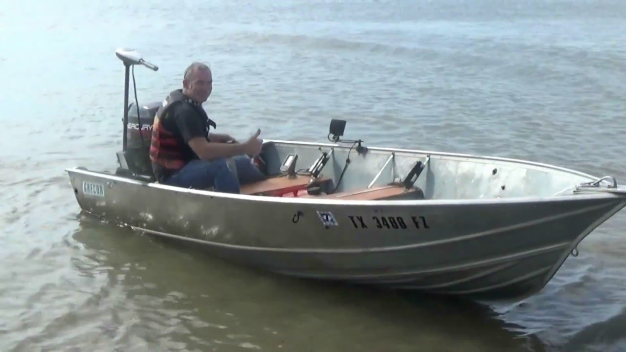 30 HP OUTBOARD MERCURY ON 14 FT ALUMINUM BOAT