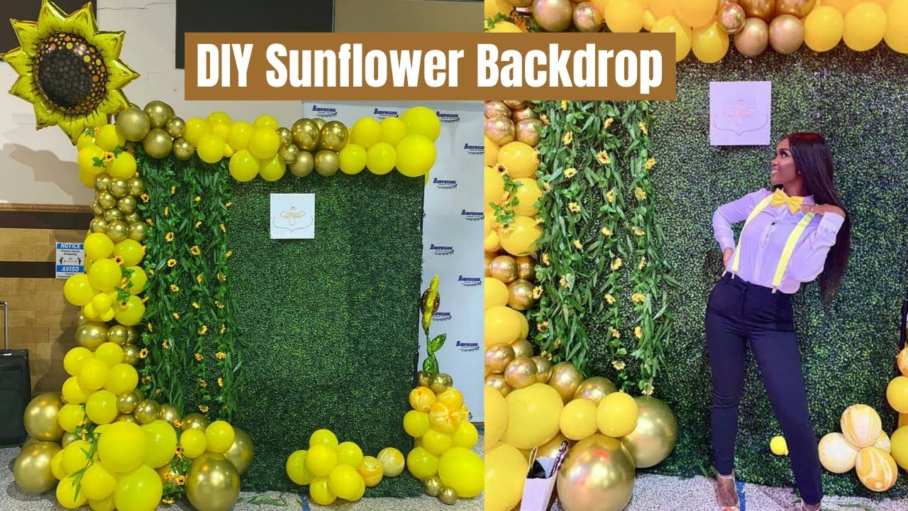 PART 1: DIY SUNFLOWER BACKDROP | SUNFLOWER DECORATION | BOXWOOD HEDGE  #Sunflower #Boxwood #Floral