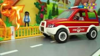 Мультики Скорая помощь и Пожарная машина в мультике Война соседей  Мультфильмы Машинки Для детей