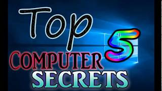 TOP 5 computer secrets|must watch|tips for windows 7,8,10|tips and 5 tricks for pc