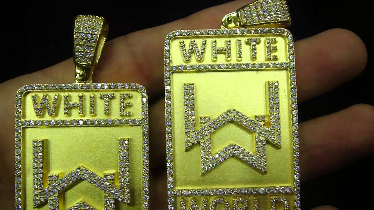 Custom solid gold bar white world pendant design by mr chris da custom solid gold bar white world pendant design by mr chris da jeweler mozeypictures Image collections