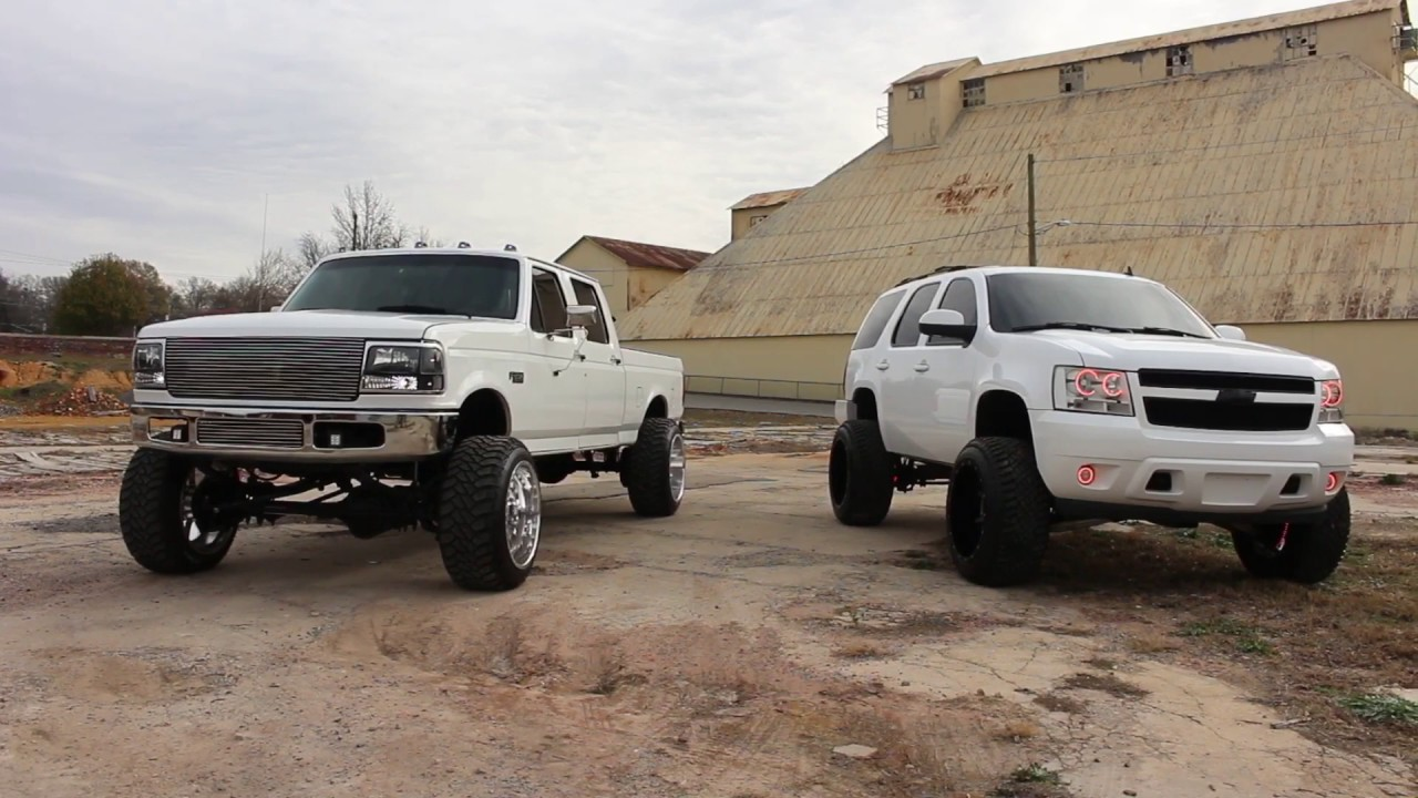 OBS Powerstroke 22x14 and Tahoe 22x14 - YouTube