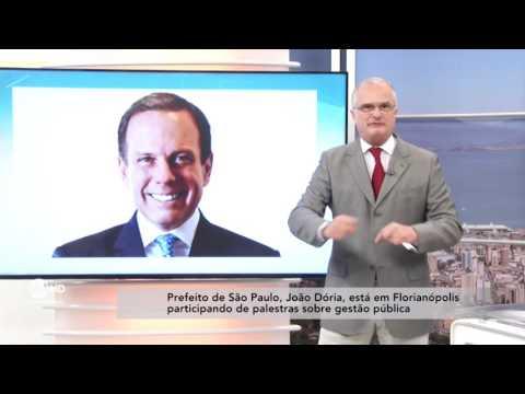 João Dória visita Florianópolis