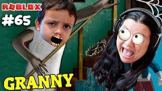 Rodrigo became GRANNY and terrorized mom Family (Roblox Granny) Family Plays
