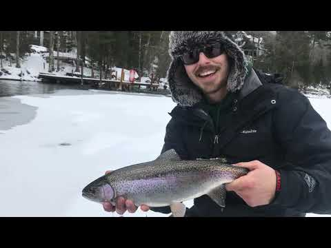 Ice Fishing The Biggest Lake In New Hampshire 2019