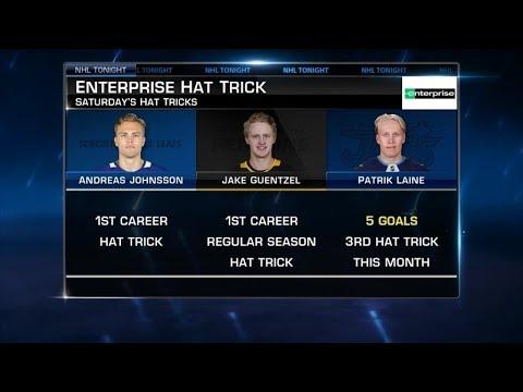 Enterprise Hat Trick:  Trio:  Johnsson, Guentzel, Laine   Nov 24,  2018