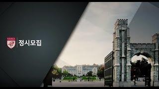 2019학년도 고려대학교 입학전형 안내(정시모집)