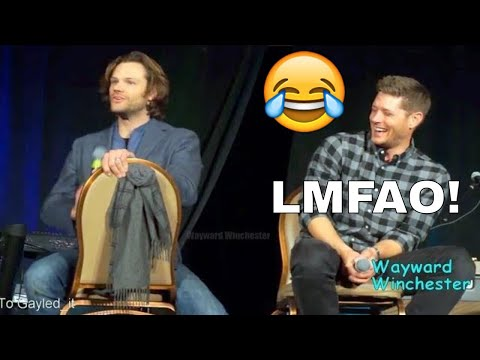 Jensen Can't Stop Laughing! At Jared's German Speaking Fail SPNLVCON 2018
