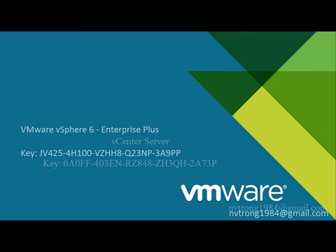 Key VMware vSphere 6 5 , ESXI 6 5 - YouTube
