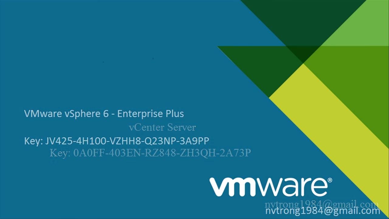 Key VMware vSphere 6 5 , ESXI 6 5