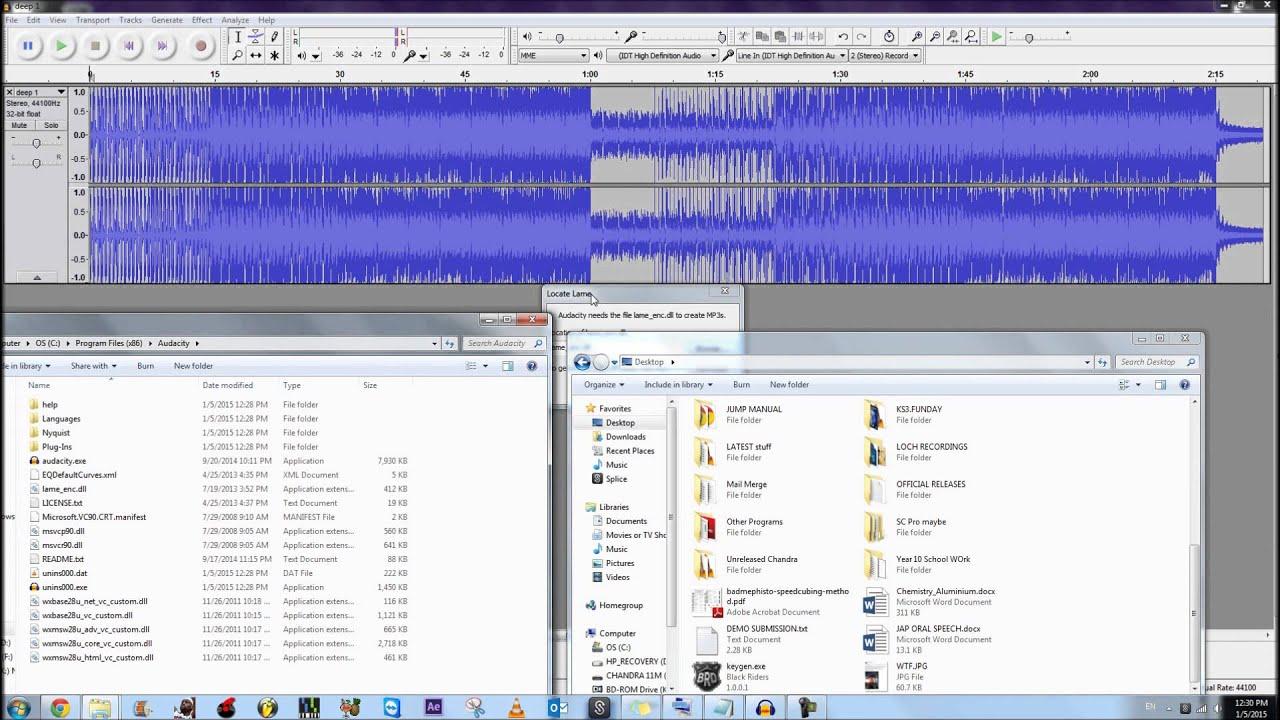 lame enc.dll pour audacity 2.1.3