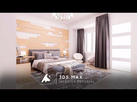 3D max Interior Designer Modeling Vray 2016 + Photoshop Tutorial