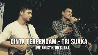 Download CINTA TERPENDAM - TRI SUAKA (LIRIK) LIVE AKUSTIK COVER BY TRI SUAKA - PENDOPO LAWAS