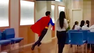 Супермен явился поздравить Мирика с Днем Рождения