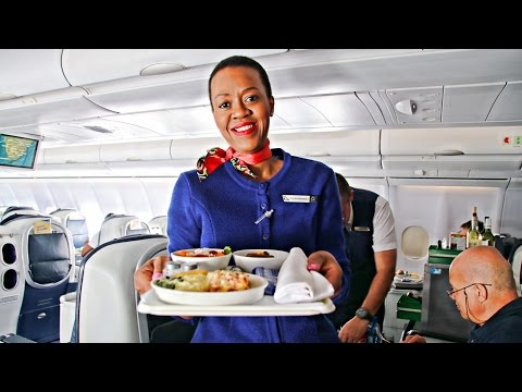 TRIP REPORT | South African Airways BUSINESS CLASS | Airbus A340-600 | Johannesburg to Cape Town!