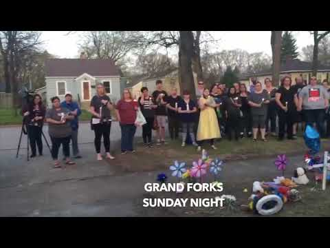 Sunday Night Vigil In Grand Forks For Mom & 3 Children