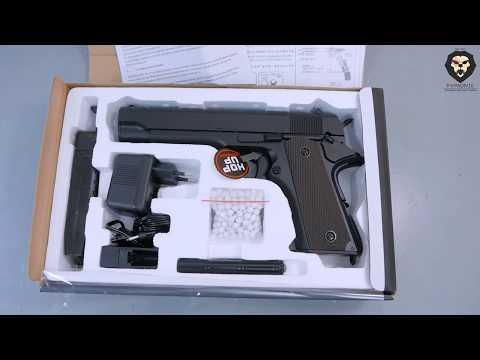 Страйкбольный пистолет Cyma CM123 (6 мм, Colt 1911) видео обзор