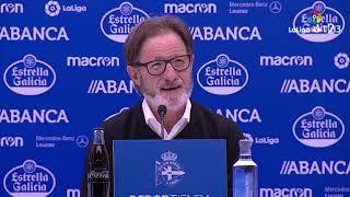 Rueda de prensa de Anquela tras el RC Deportivo vs Real Oviedo (4-0)