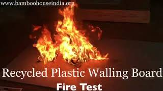 Recycled Plastic Walling Boards (Fire Test)