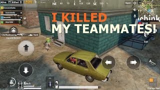 I Killed My Teammates And Won The Game  | PUBG Mobile |