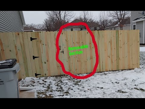 Removable Fence Posts and Removable Sections in Privacy Fence: Tutorial
