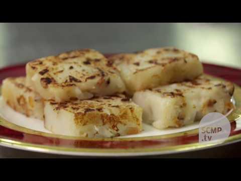 Learn how to make turnip cake from Hong Kong