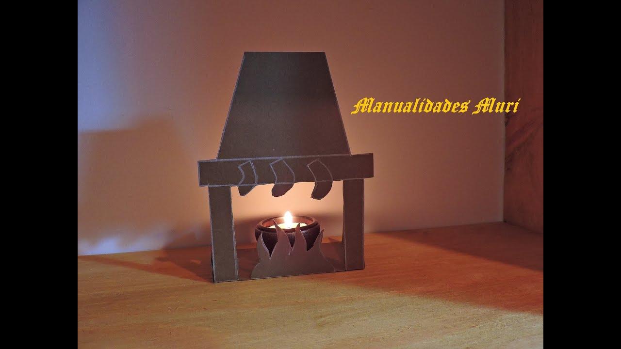 Manualidades silueta de chimenea para decorar en navidad - Chimeneas para decorar ...