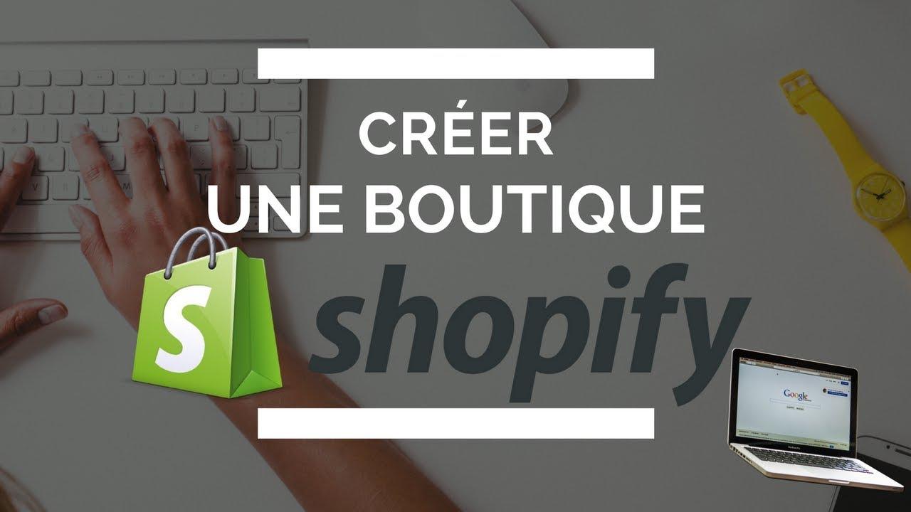 Comment créer une boutique shopify  - configurer les réglages.