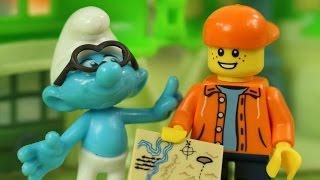 Z Wizytą u Smerfów   Klocki Lego Creator & Smerfy Poszukiwacze Zaginionej Wioski   Bajki dla dzieci