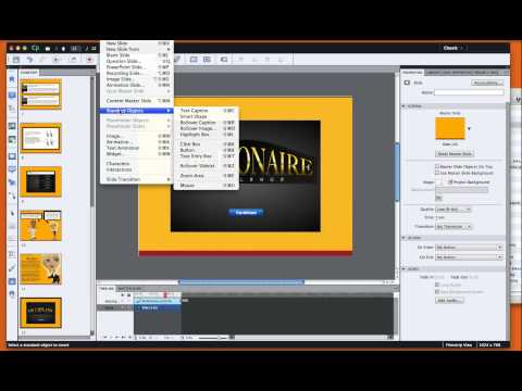 How to insert a flash file into Adobe Captivate
