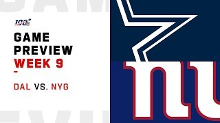 Dallas Cowboys vs New York Giants Week 9 NFL Game Preview