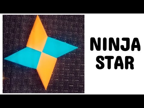 easy ninja star without glue or tape