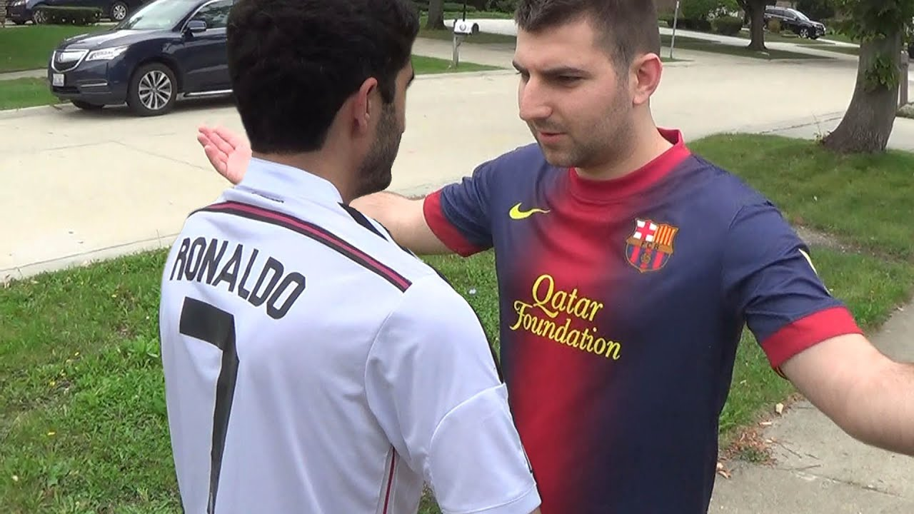 cristiano ronaldo vs messi fight each other in real